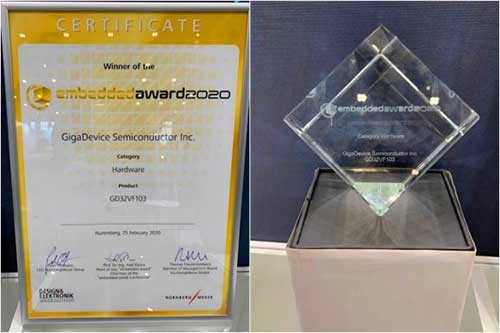 GigaDevice Receives Embedded Award 2020